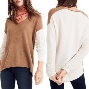 Madewell Kimball Colorblock Sweater Alpaca Merino